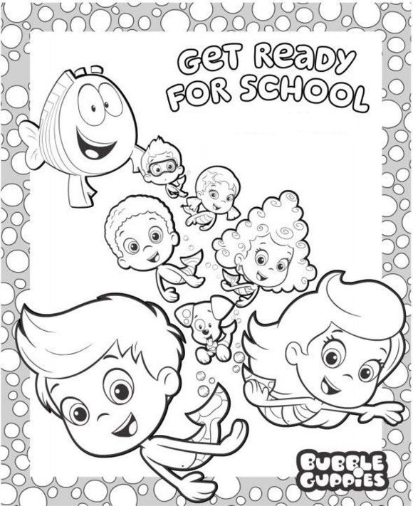Cartoon Coloring, Preschool Bubble Guppies Coloring Pages: preschool ...