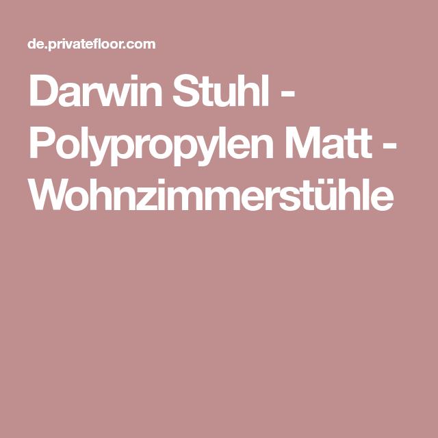 Darwin Stuhl Polypropylen Matt Wohnzimmerstuhle Wohnzimmer Stuhle Stuhle Darwin