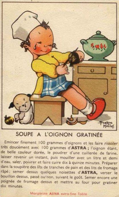 Béatrice Mallet - Illustration - Publicité Vintage - Astra - Recettes de Cuisine