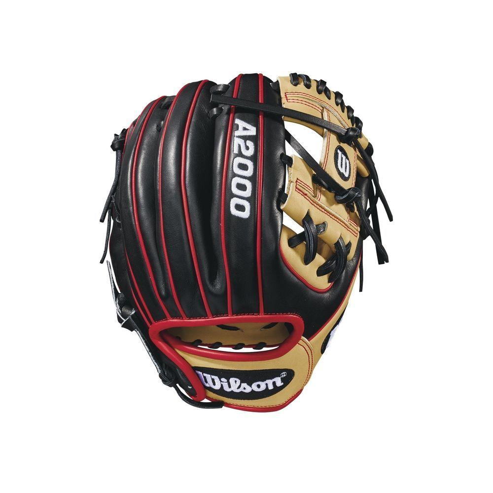 Wilson A2000 Baseball Glove Series Black Blonde Red Infield Model 11 25 Ebay Link Baseball Glove Gloves Baseball Gear