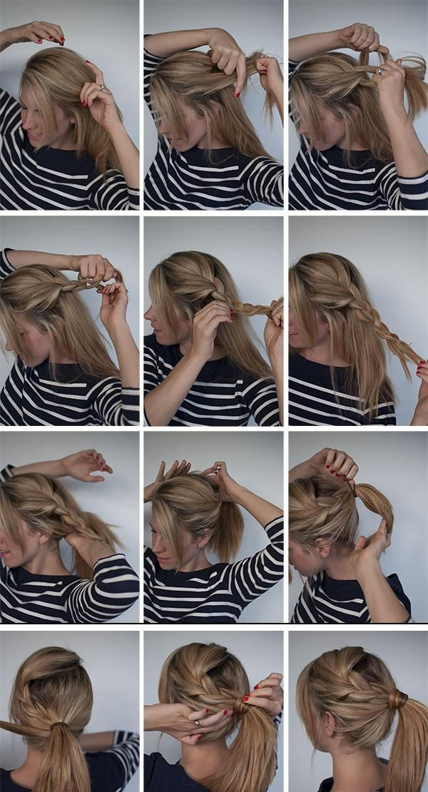 Step By Step Easy Selfmade Hairstyles Hair Styles Hair Romance Ponytail Hairstyles Tutorial
