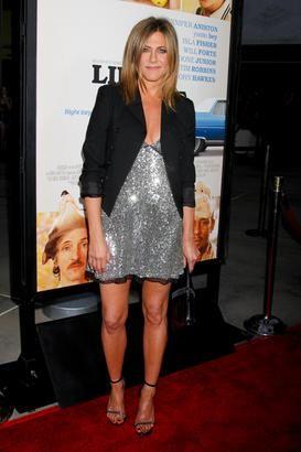Jennifer Aniston in Saint Laurent.