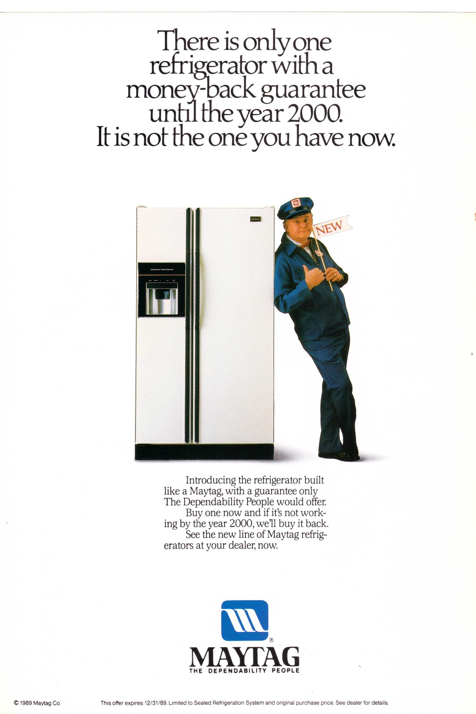 1989 Maytag Refrigerator Ad From National Geographic September