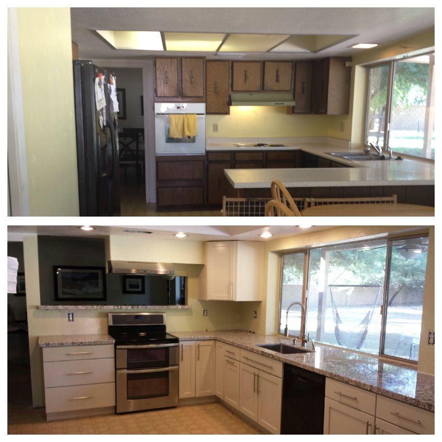 Kitchen Remodel Before After Remodels For Ugly 70s Ranch