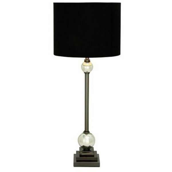 Mesmerizing metal glass table lamp 305 pen ❤ liked on polyvore featuring home