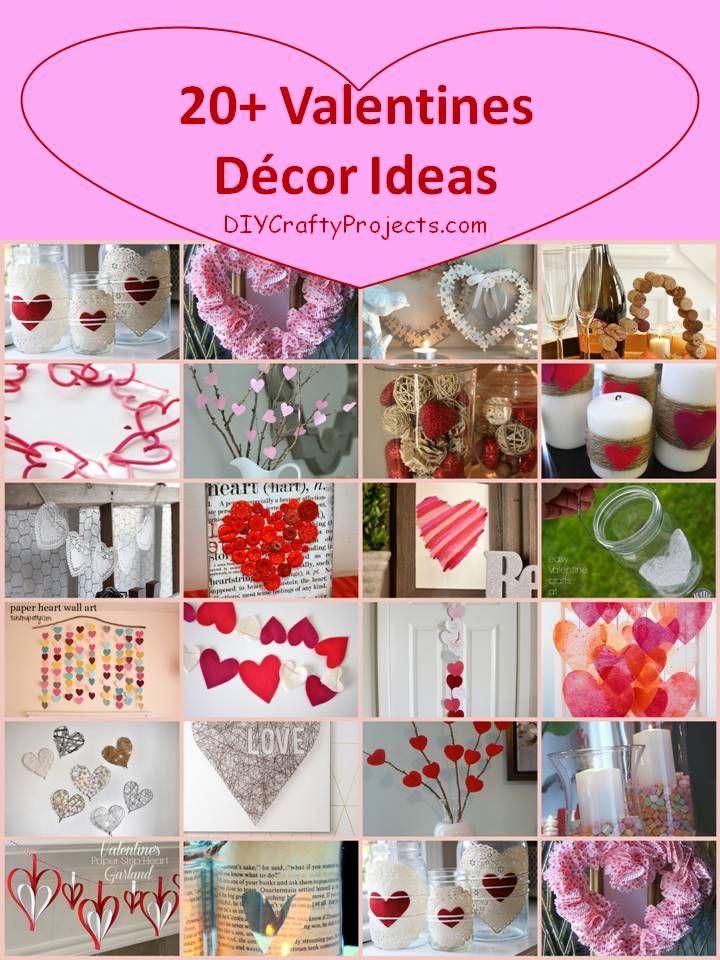 Valentine Wall Decor Diy : Valentines day decor ideas jars heart and tutorials