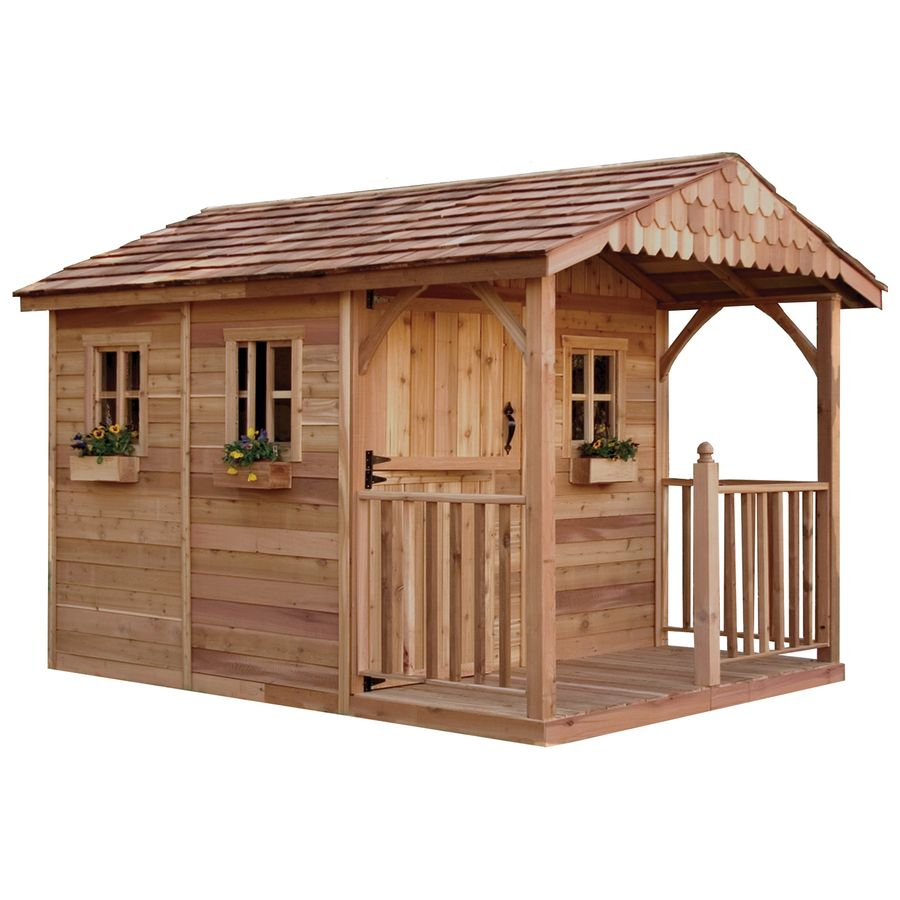 outdoor living today gable cedar storage shed common 8 ft x 12