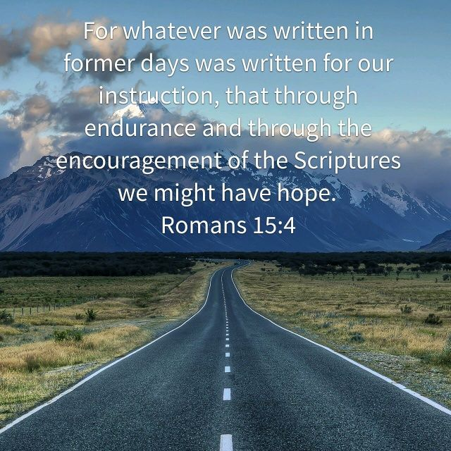 You created a verse image for <b>Romans 15:4</b> | Bible.com