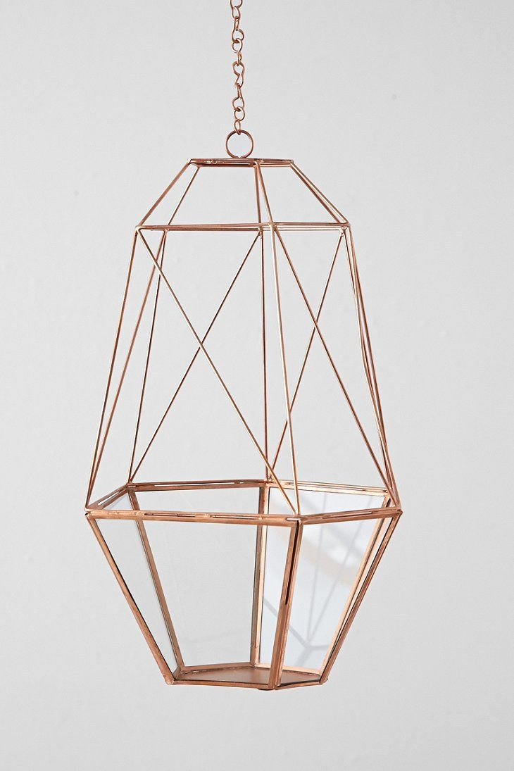 Magical Thinking Hanging Copper Cocoon Terrarium - Urban Outfitters Picture these with tea lights in a tent!!