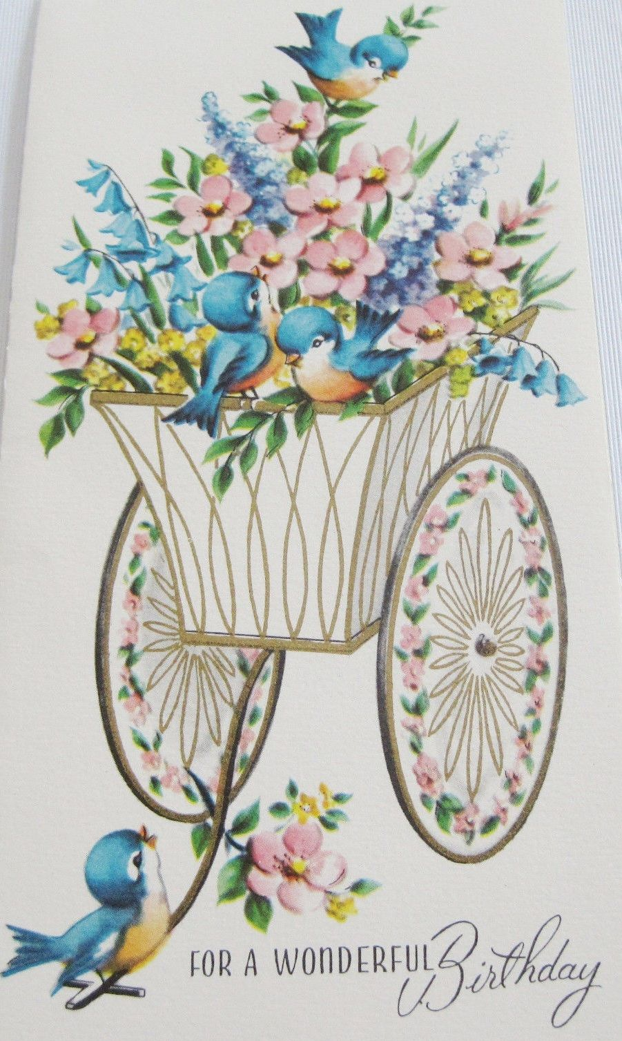 Pin by debbie bailey ray on art vintage cards ads and artwork happy birthday cards birthday greetings animal cards nice picture vintage greeting cards vintage holiday bluebirds vintage wrapping paper vintage kristyandbryce Image collections