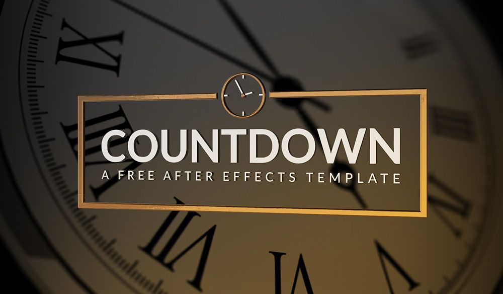 Countdown - Free AE Template | Free After Effects Templates