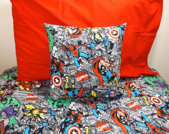 Marvel Comics Bedding Set Avengers Comic Iron Man Thor
