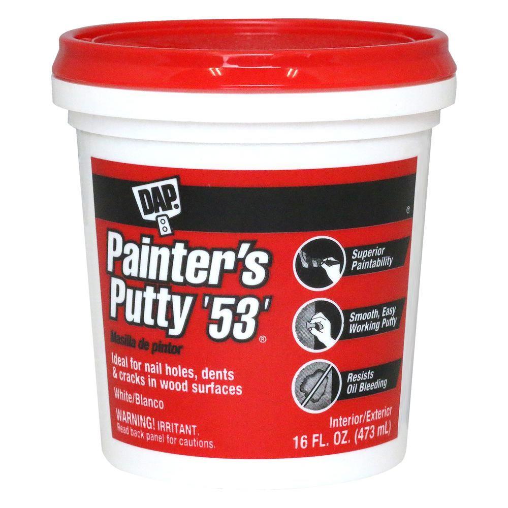 Dap Painter S Putty 53 16 Oz White 12 Pack Stucco Patch