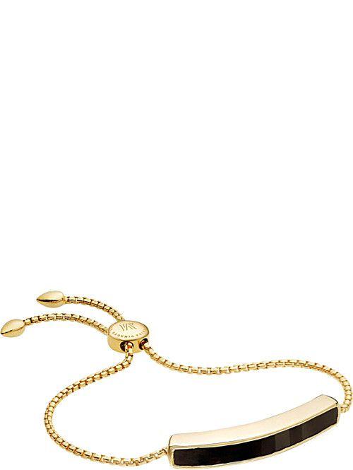 Baja Black Onyx Bracelet, Gold Vermeil on Silver Monica Vinader