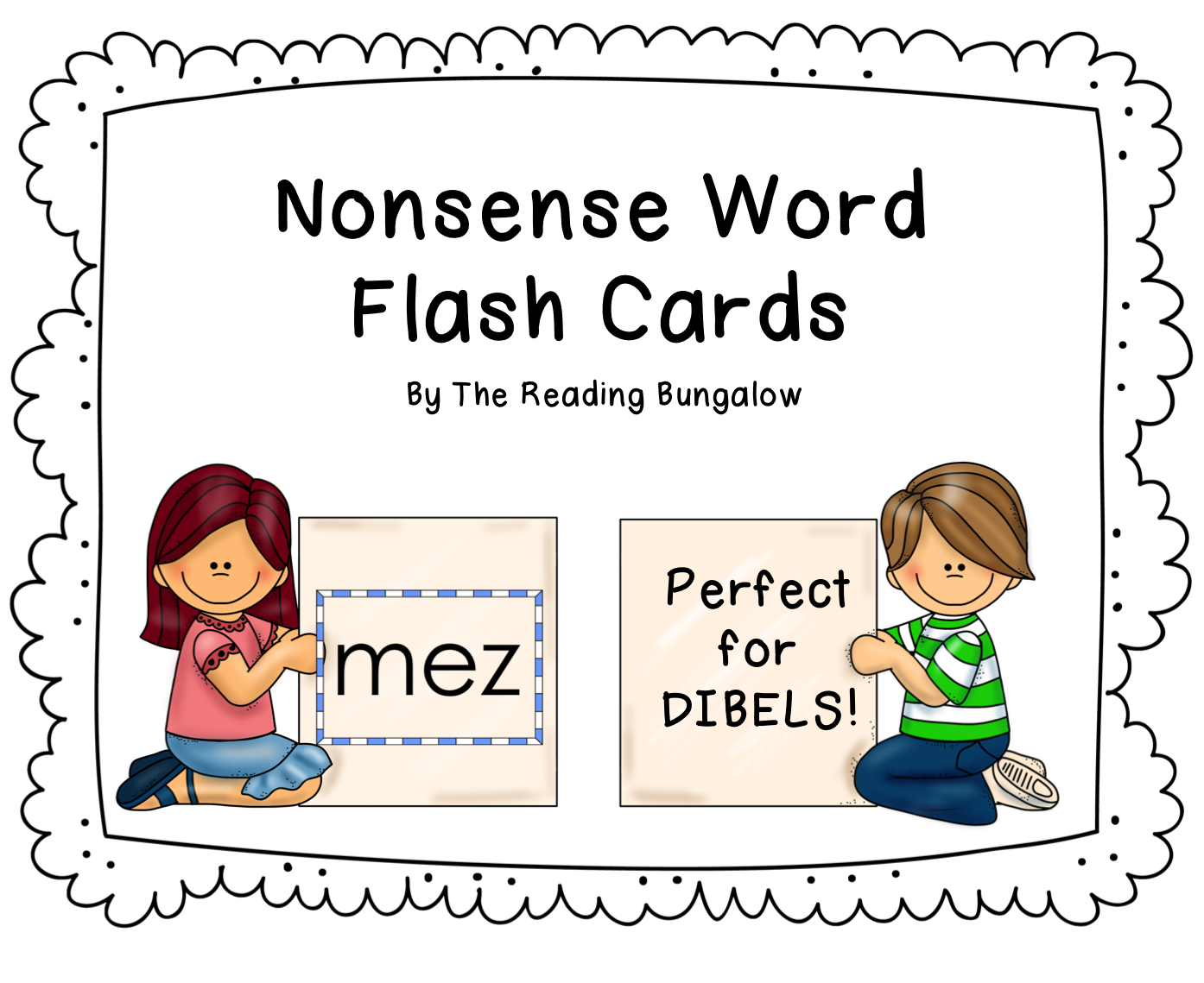 Nonsense Word Flash Cards Great For Dibels Or Aimsweb