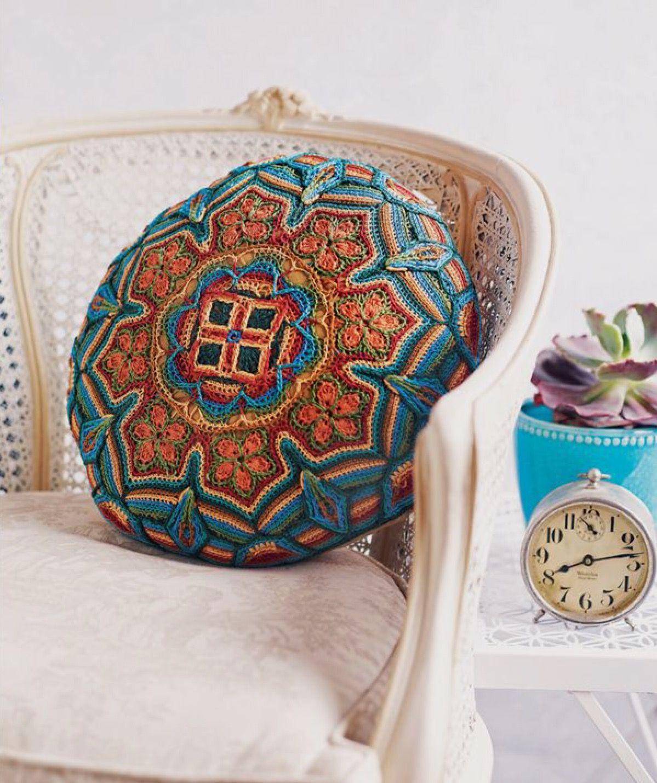 Overlay Mandala Pillow Cover. Melody MacDuffee. Crochet ...