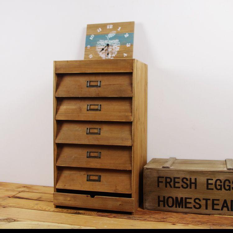 Zakka allelopathic desktop solid wood vintage drawer file cabinet – Cabinet Storage Drawers