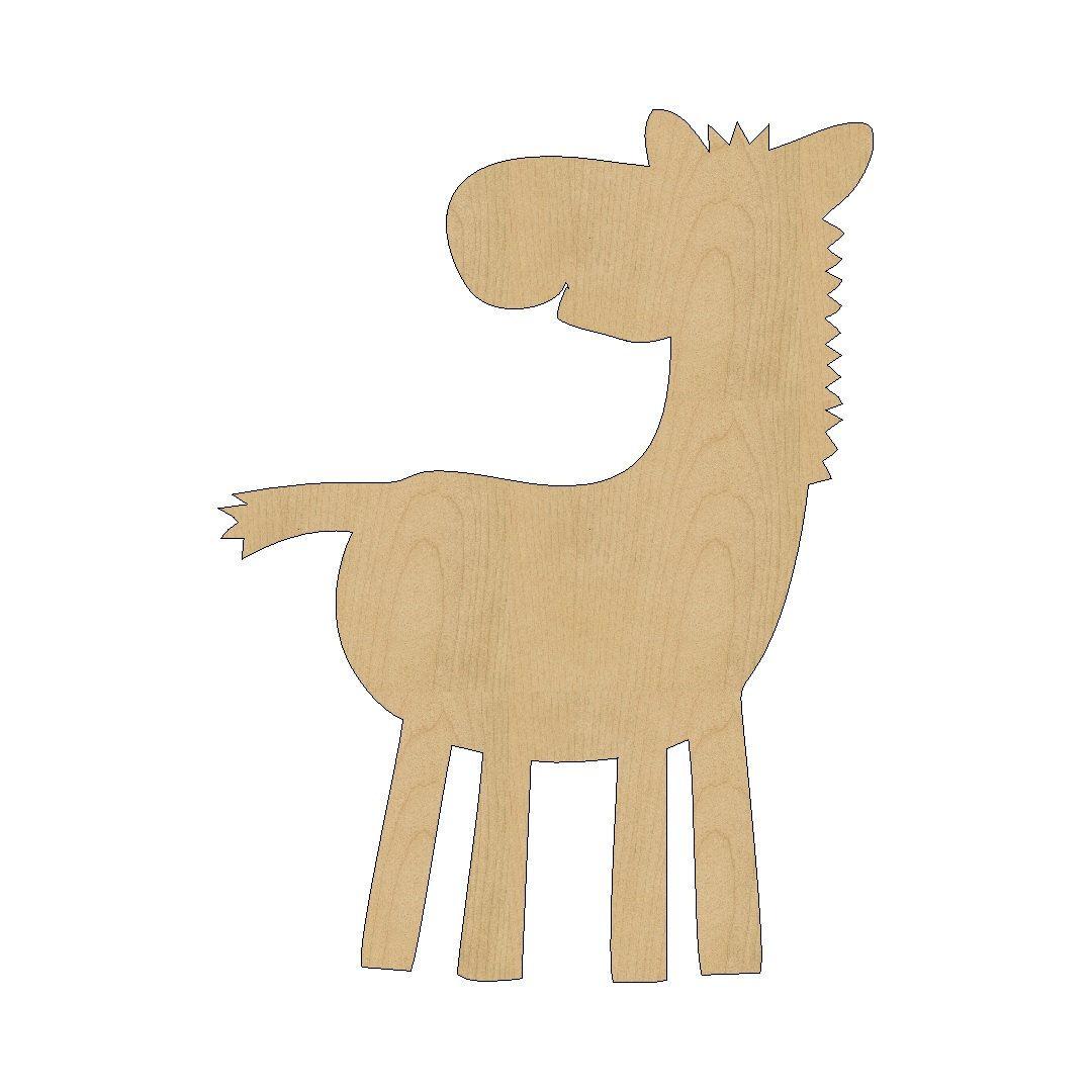 baby zebra cutout shape laser cut unfinished wood shapes craft