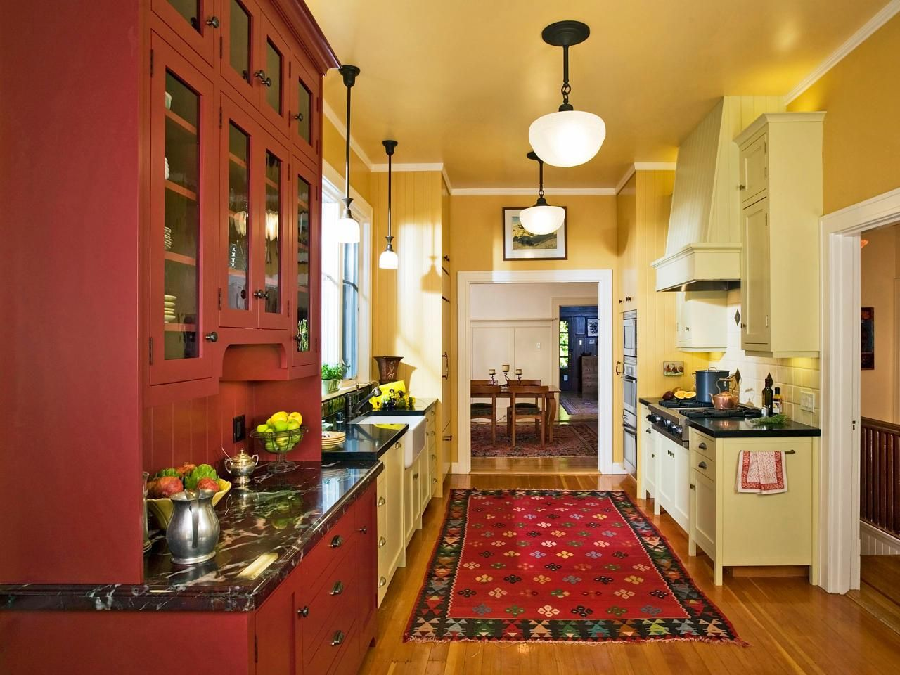 Best Colors to Paint a Kitchen: Pictures & Ideas From HGTV  Red