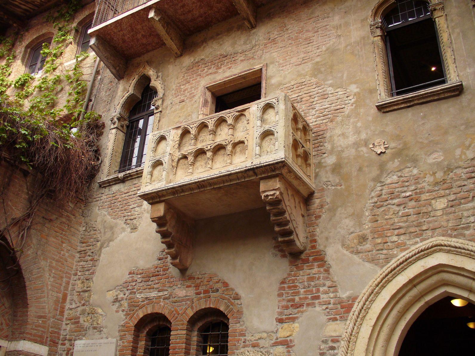 Il balcone di Giulietta Balconi, Romeo e giulietta, Italia