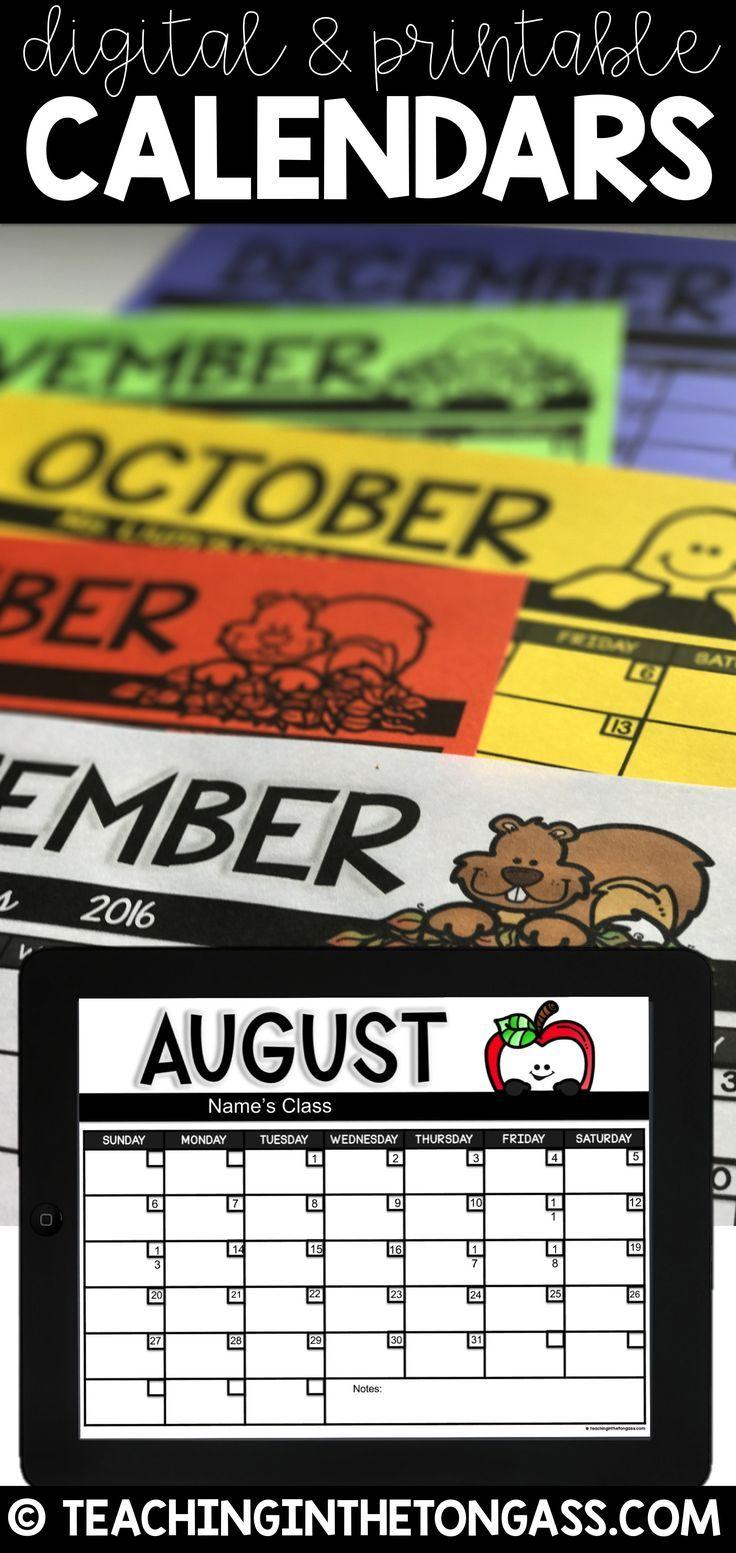 Editable Calendar 20192020 Printable & Digital Google