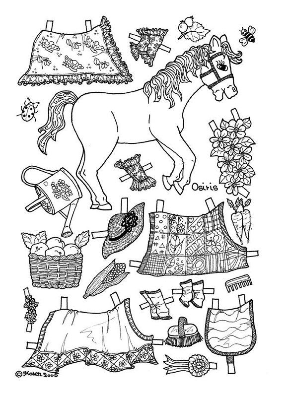 osiris pony paper doll coloring page Coloring pages Pinterest