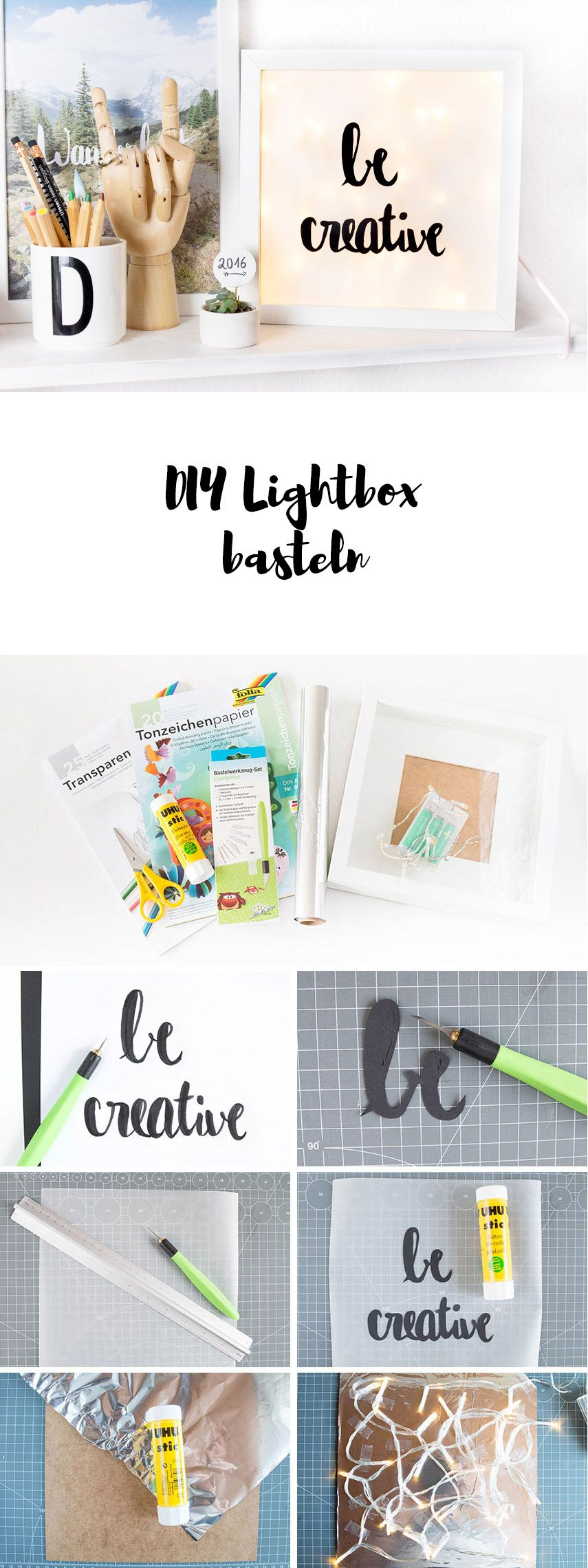 Eine kleine DIY Lightbox   DIY Geschenke   Pinterest   Diy ...