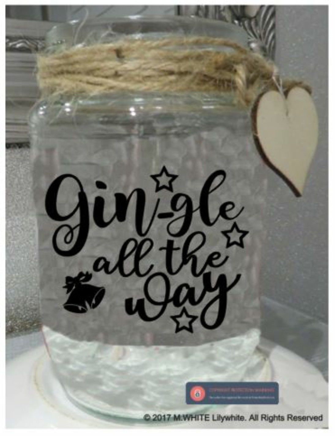 Jar Stickers Gl Label Gin Gle All The Way Novelty Christmas Gift