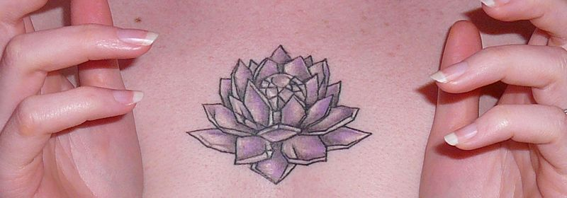 Sailor Moon Chest Tattoo Of The Emperium Silver Crystal Also Very Much Resembling A Lotus Flower Amazing Geekoutmoment Tatuajes Cosas
