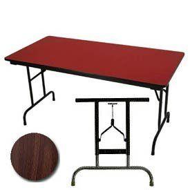 34 High Pressure Laminated Adj Height Folding Table 36 X 72