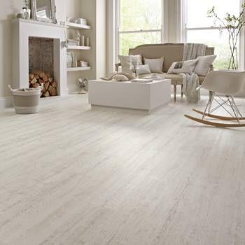 KP105 White Painted Oak Living Room Flooring