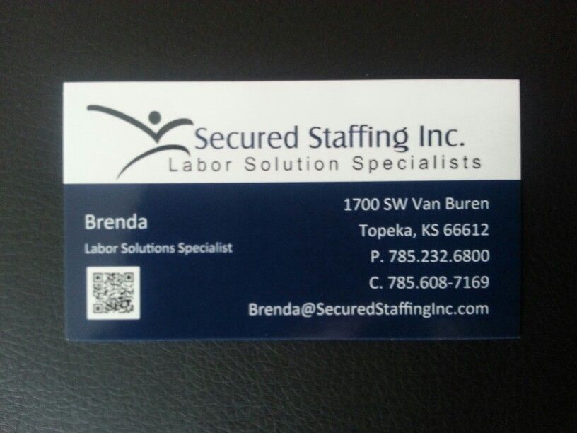 We made business cards for Secured Staffing Inc. Are you looking for ...