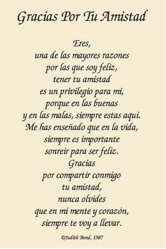 Poemas Cortos Para Mejores Amigos Frase Frase Amor Pinterest