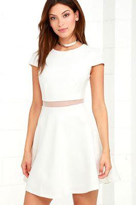 Vestidos Blancos Casuales Vestidos Cortos Vestidos