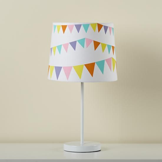 Kids lighting kids white table lamp and pennant shade in all room decor