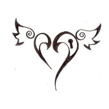 tatouage c ur ailes avec verrouille tatouage pinterest. Black Bedroom Furniture Sets. Home Design Ideas