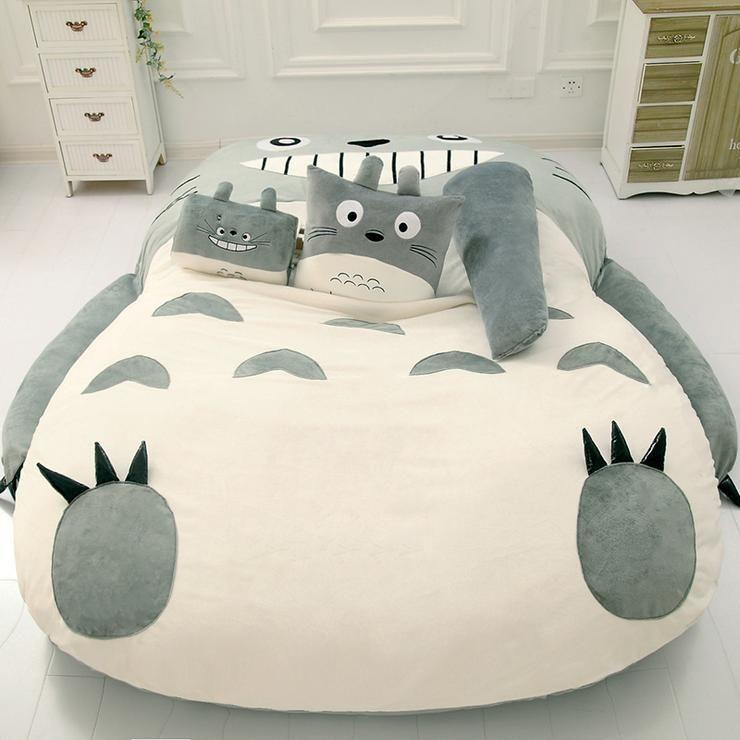 Cute Totoro Soft Bed Pn1391 Bed Comfy Bedroom Totoro