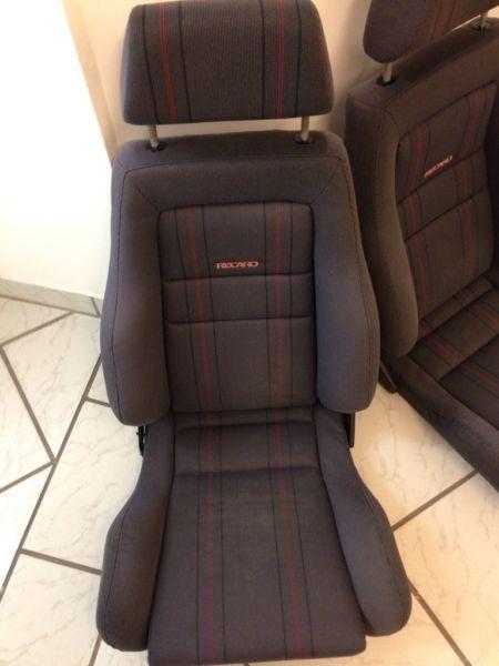 recaro golf 2 gti g60 syncro limited rallye 16v vw polo. Black Bedroom Furniture Sets. Home Design Ideas
