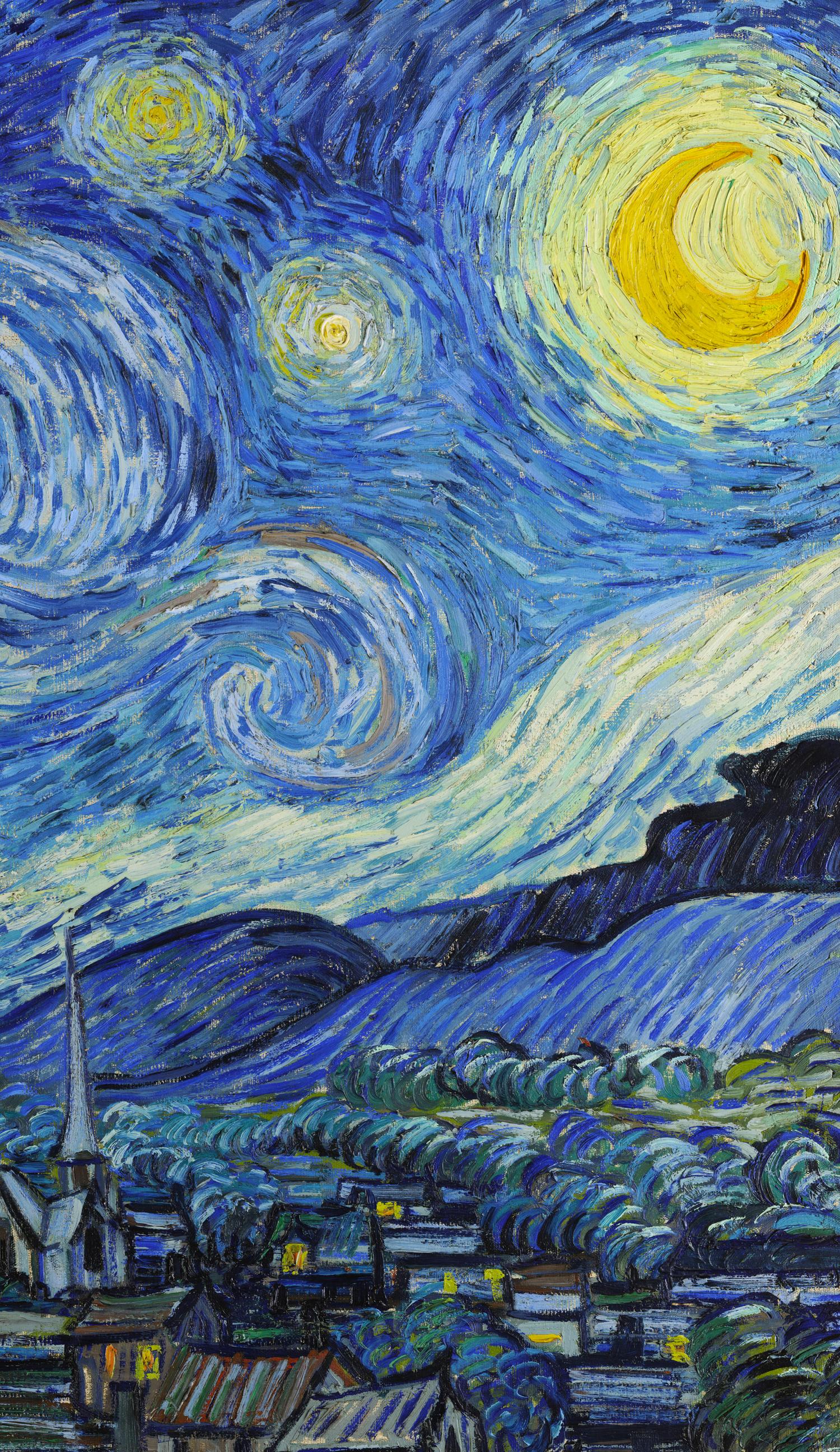 Idea By Faariah On Bleh Van Gogh Wallpaper Starry Night Van