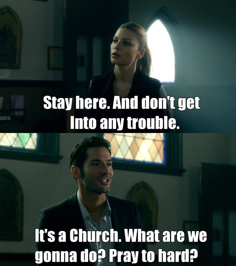 1000 Images About Lucifer Fox Tv Show On Pinterest: A Priest Walks Into A Bar
