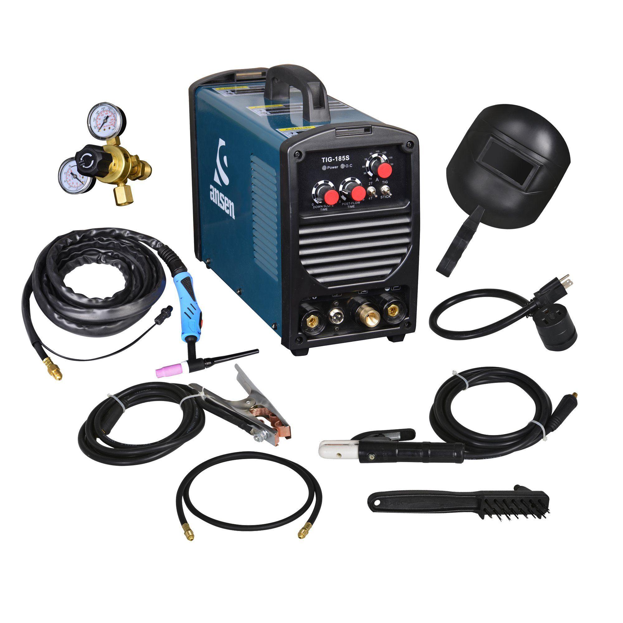 Ansen Portable IGBT Inverter Welder 115V/230V Dual Voltage TIG&STICK ...