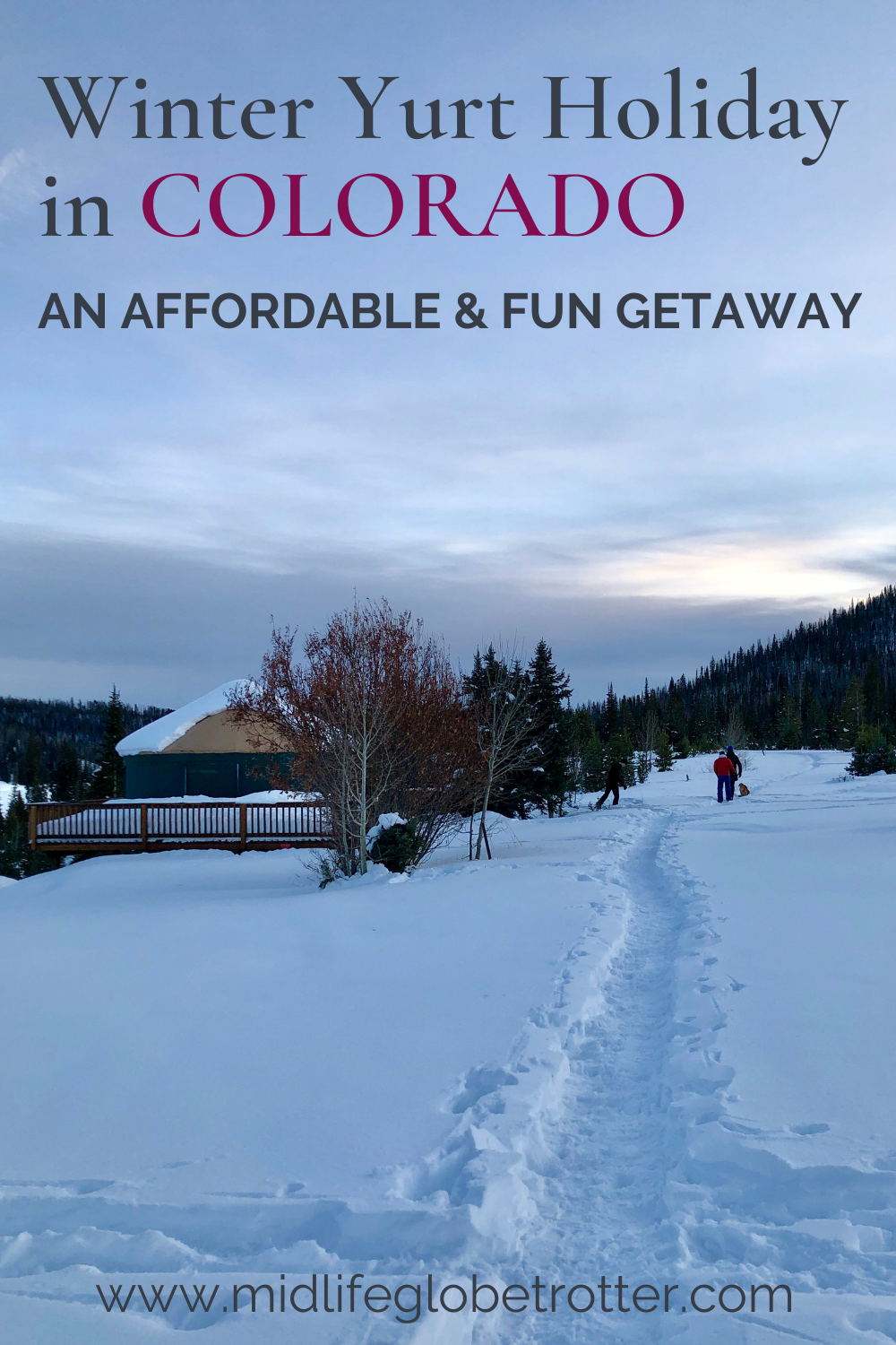 Yurt camping in Colorado: a fun getaway for friends or family adventure. Read my detailed guide to Pearl Lake State Park and activities including nordic skiing, snowshoeing and hiking. A fun option for a US West road trip; family travel, a girls getaway or adventure-seeking midlife women. Planning tips: how to reserve & packing essentials. Includes a guide to visit Steamboat Springs on a budget. Wonderful outdoor photography. #travelblogger #budgettravel #budgetvacation #roadtrips #womentravel