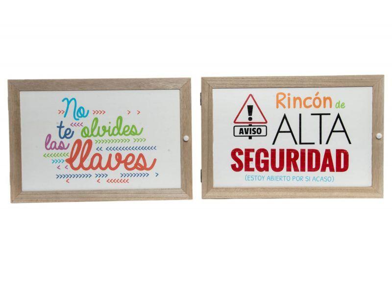 Tapa De Contador De Madera Con Mensaje Llaves Y Rincon Alta