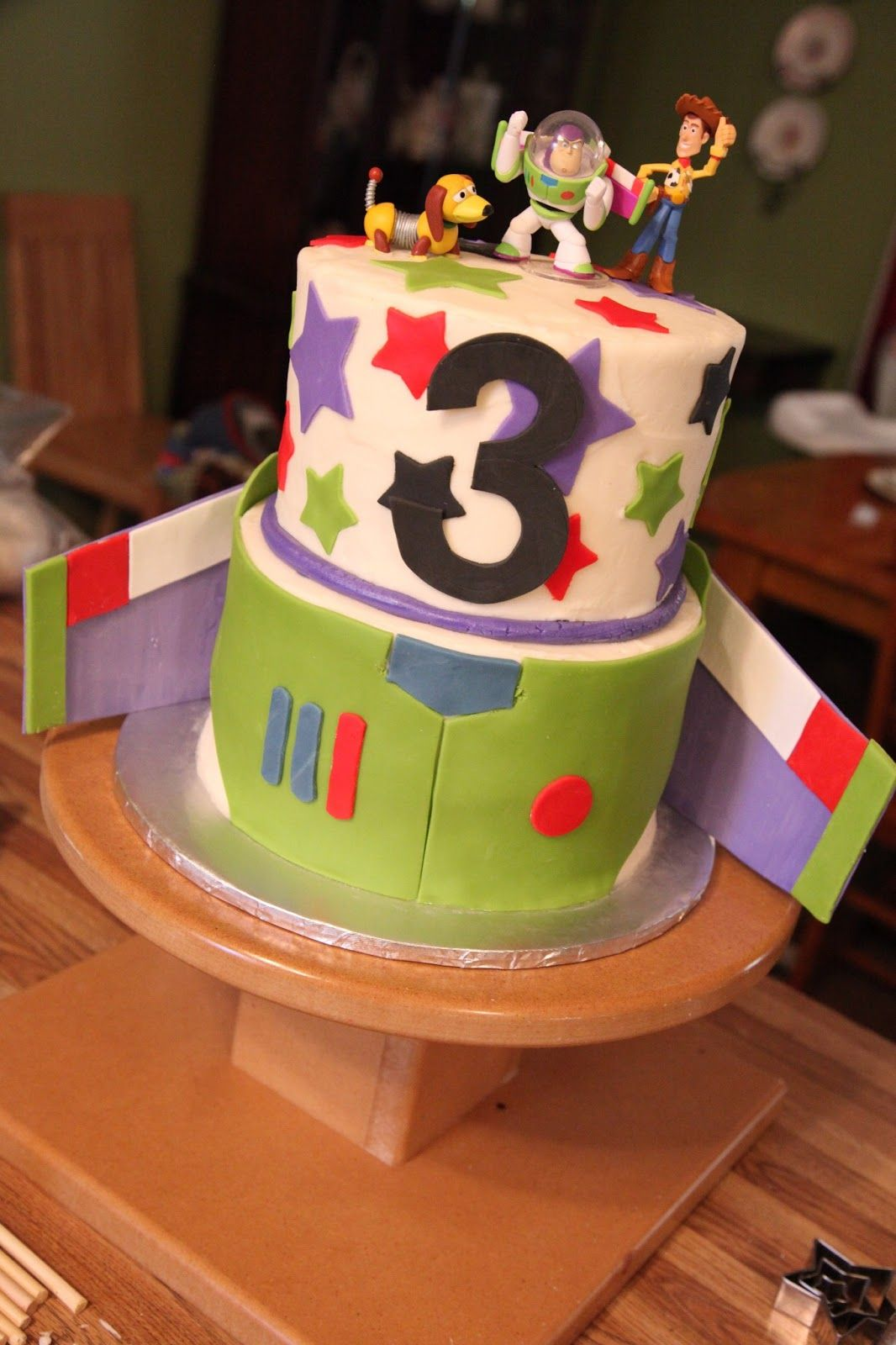 Toy Story Cake For A 3 Year Old Little Boy Chocolate With Vanilla Buttercream Fondant Gumpaste Decorations And Toppers