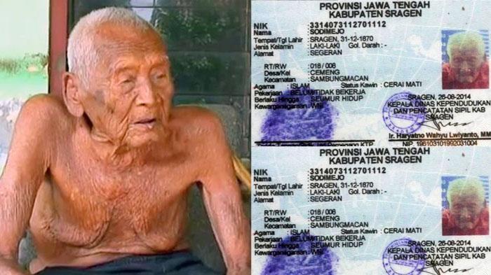 Manusia Tertua Sedunia - 145 Tahun, Kakek Asal Jawa Tengah Ini Sudah…