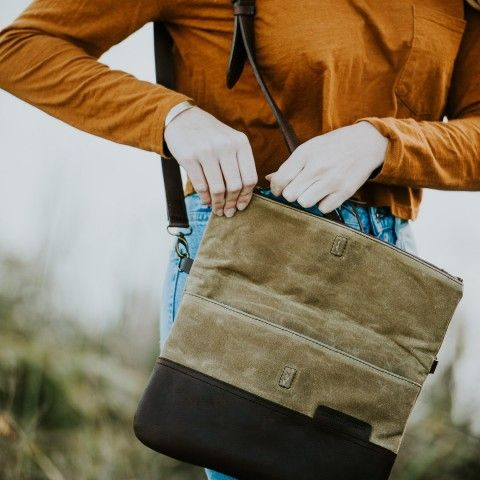 d4ab3c4c2c Pin by 我心飞扬 on canvas bag | Waxed canvas, Leather, Clutch purse