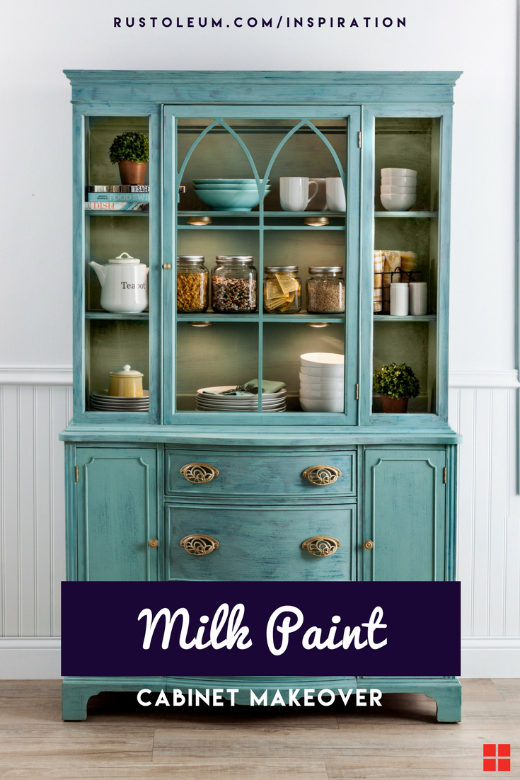 This DIY milk paint furniture tutorial shows you how to use milk ...