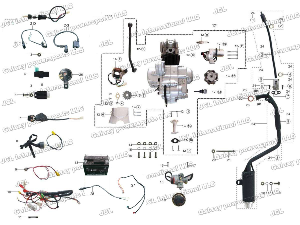 110 atv wiring diagram for 110cc chinese [ 1200 x 900 Pixel ]