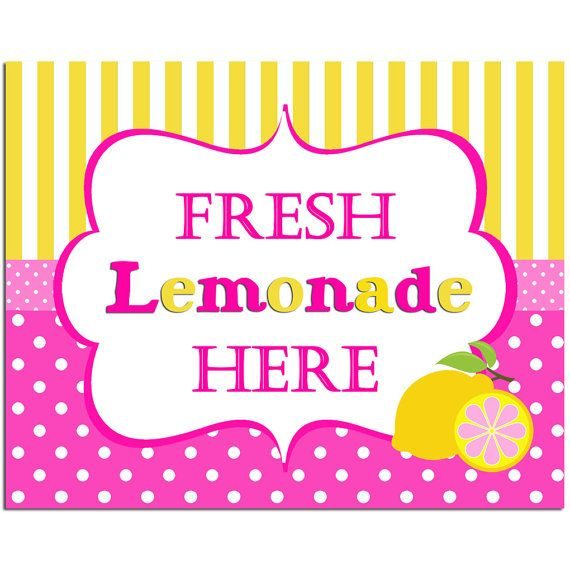Pink Lemonade Sign Printable - INSTANT DOWNLOAD - Pink ...