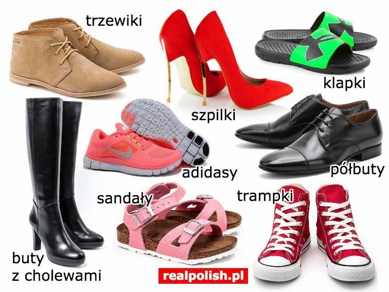 Polish Vocabulary Footwear Polish Language Learn Polish Polish Words